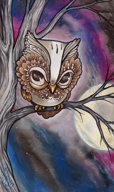 nightowl anji marth watercolorandpencil
