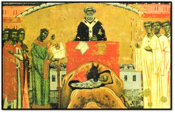 Miniatura de la Natividad del monasterio de Berlinghieri, Santa Croce (Florencia)
