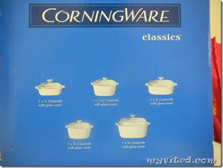 set corningware