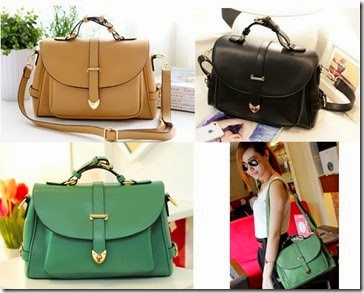 ID 703 Green, Black, Khaki (176.000) - PU Leather, 20 x 31 x 9