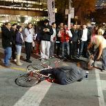 fallen cycler in toronto in Toronto, Ontario, Canada