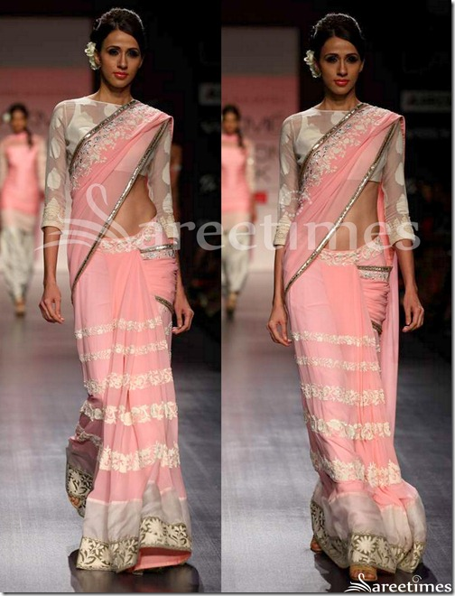 Manish_Malhotra_Pink_Georgette_Saree