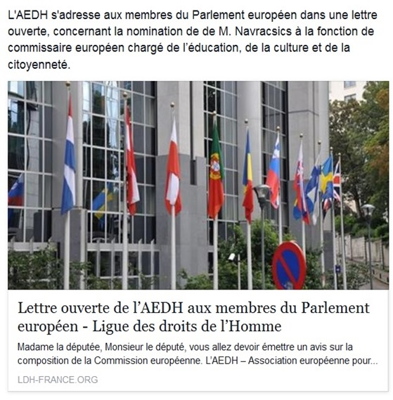 LEDH Parlament Europèu