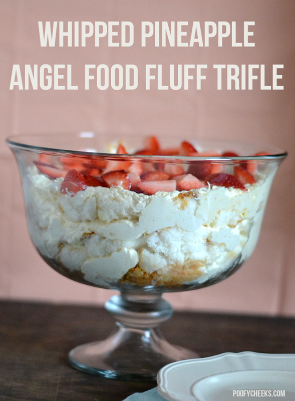 Whipped Pineapple Angel Food Fluff Trifle
