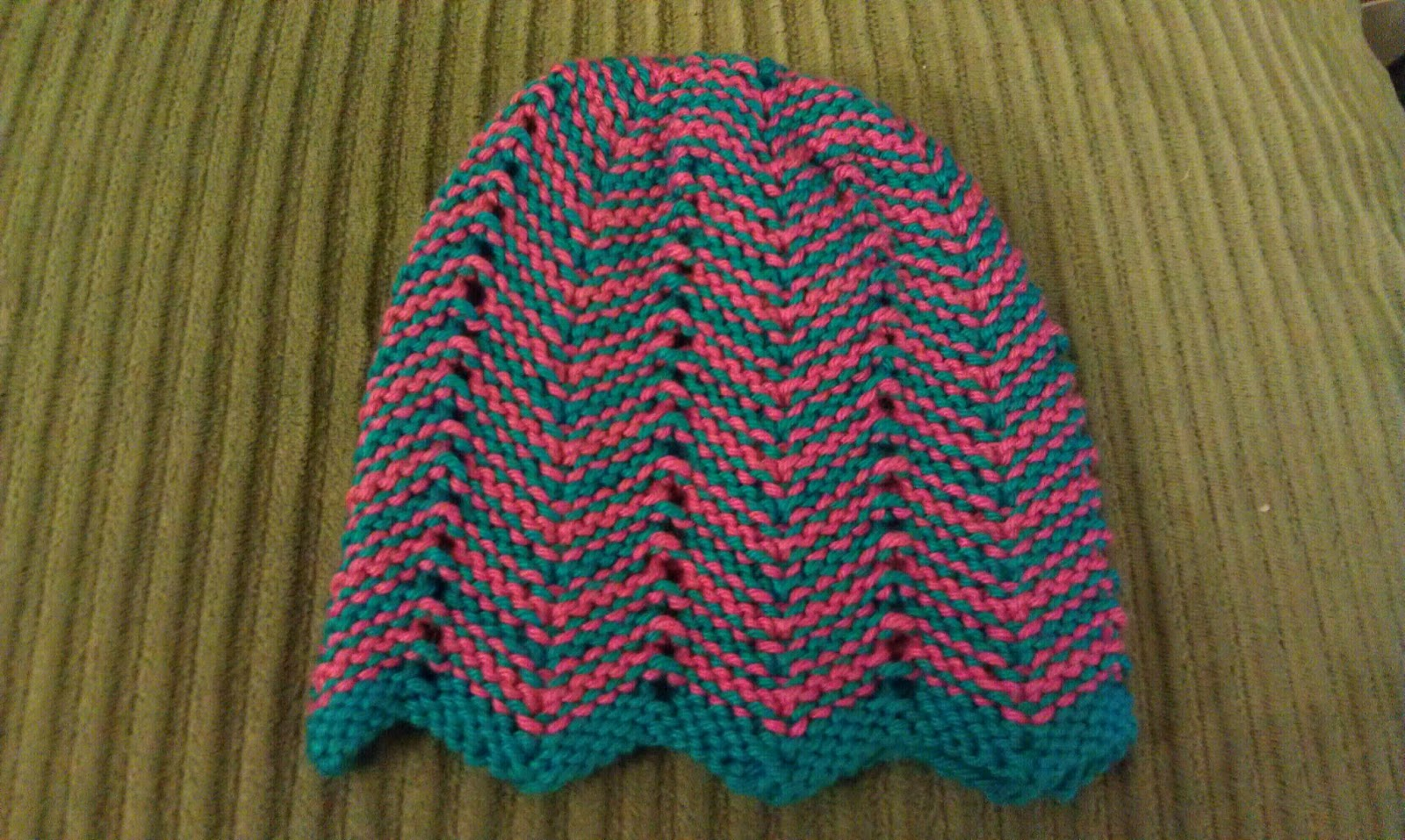 Chevron Knitting Pattern : ChemKnits: Chevron Baby Hat Knitting Pattern