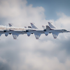 Four in a row by Ron Meyers - Transportation Airplanes
