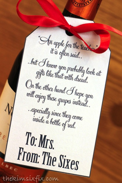 Teacher Wine Gift