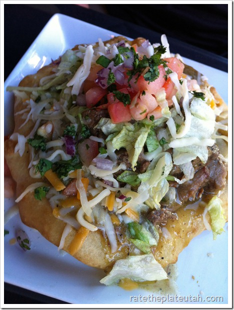 Black Sheep Cafe Green Chile Navajo Taco