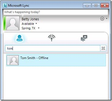 Lync - contact search1 - after