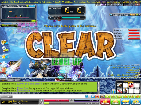 how to kill last boss nyen maplestory