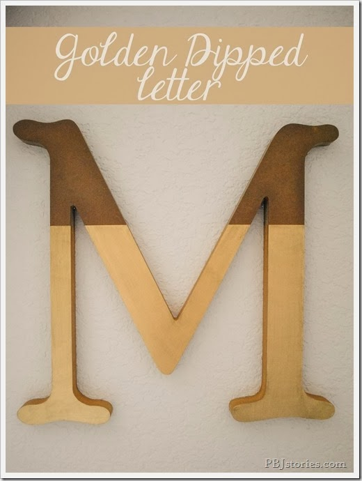 tutorial for golden dipped letter