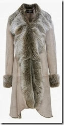 Dom and Ruby Light Brown Shearling Coat
