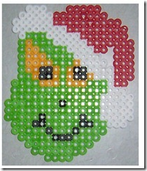 grinch perler beads by April Hanna