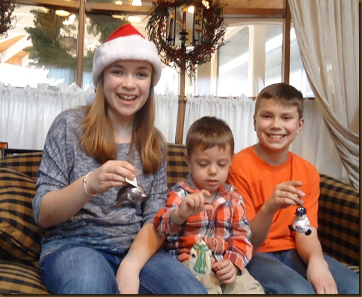 Kids with ornaments 1