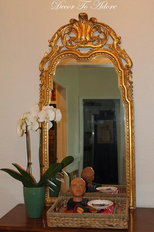 Cleaning A Gilded Mirror 004