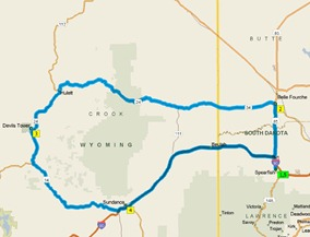 Devils Tower Route