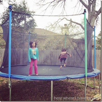 trampoline on a cloudy day