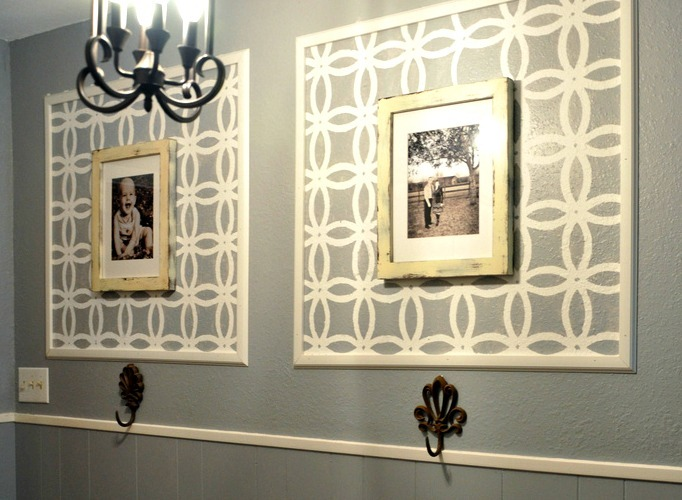framed stencil decor