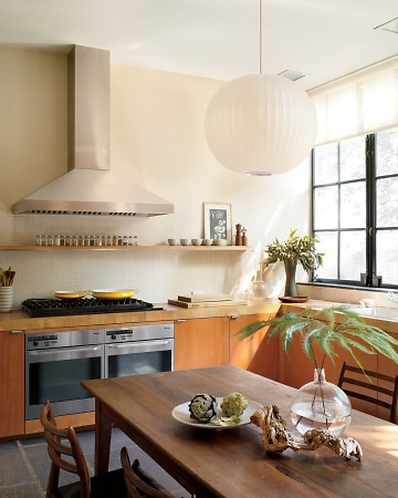 Architect Cary Tamarkin created a very serene kitchen.  (Annie Schlecter/Marthastewart.com)