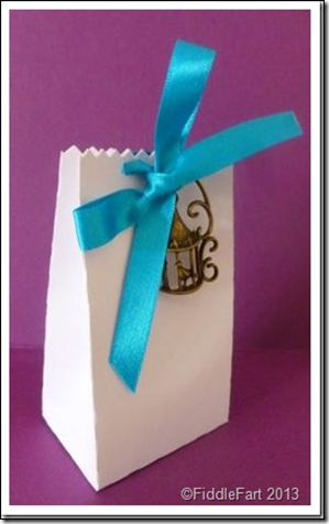 wedding Favour Box with bird cage embellishment.2