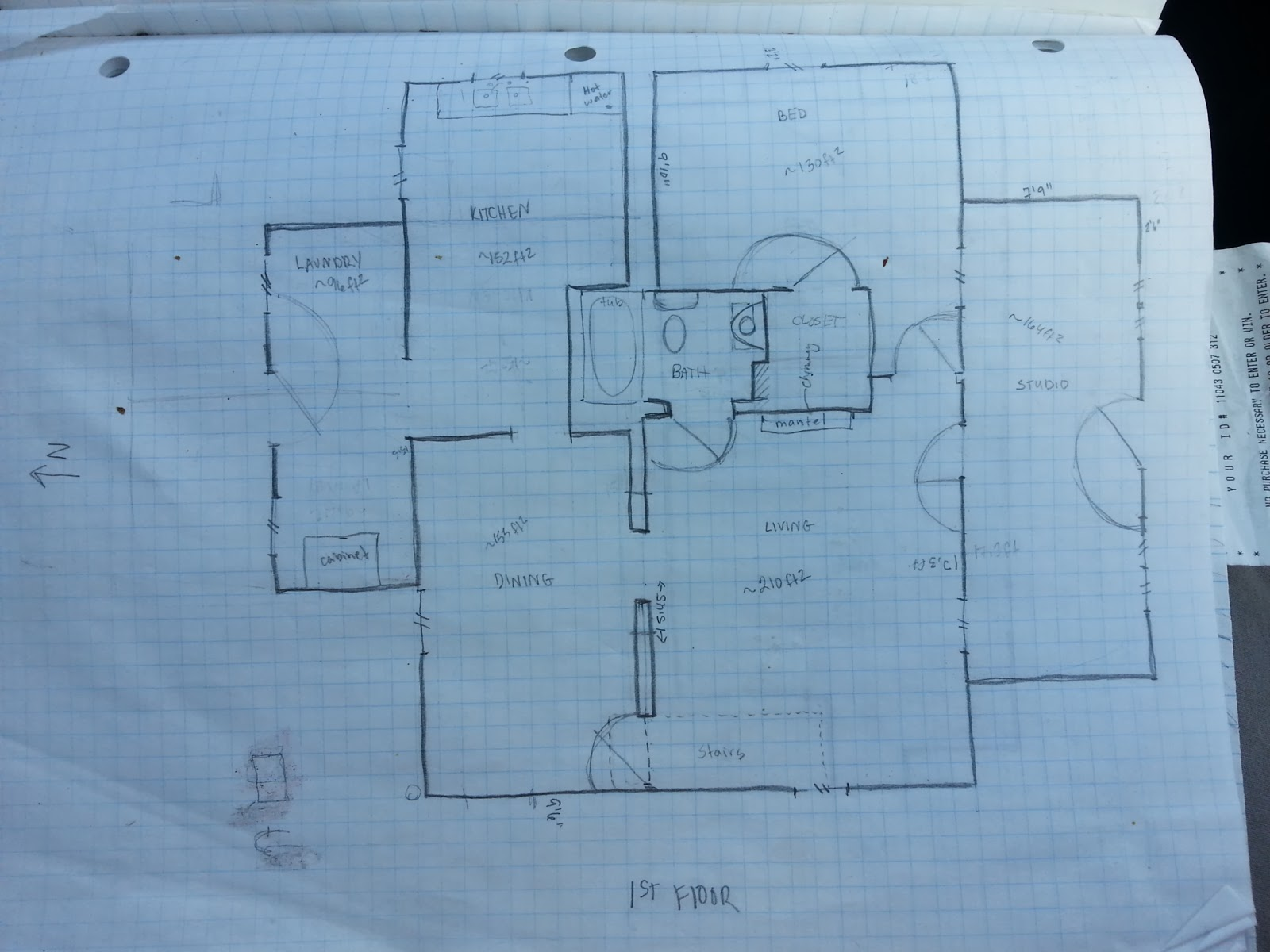 International Blue: Our House Design Sketches on Graph Paper