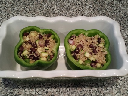 Quinoa Stuffed Peppers step 1