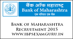 Bank of Maharashtra Company Secretary Recruitment 2015