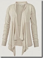 Natural Pointelle Back Cardigan
