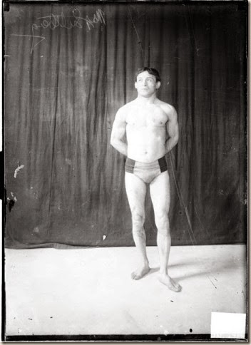 Max Luttbeg Wrestling Promo Shoot - Picture from the Library of Congress