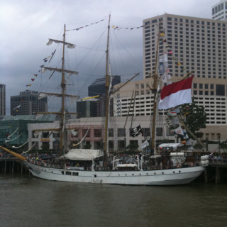 Tall ship at New Orleans