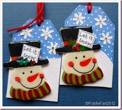 snowman tags 1