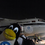 Mit diesem Flugzeug gehts gleich los...
