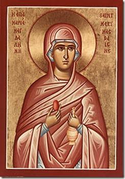 Ícone Ortodoxo mostrando Madalena com o Red Eg