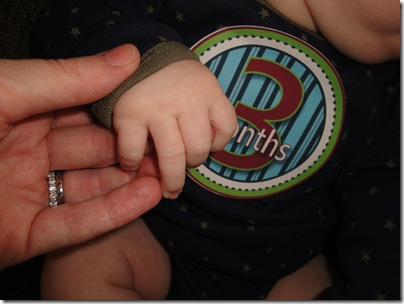 7.  Knox and Mommy's hand