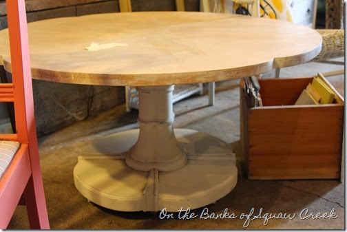 beachy whitewashed table