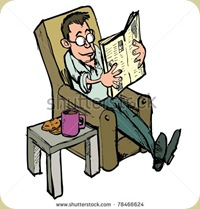 stock-vector-cartoon-in-a-lounge-chair-reading-a-newspaper-with-coffee-on-the-side-table-78466624