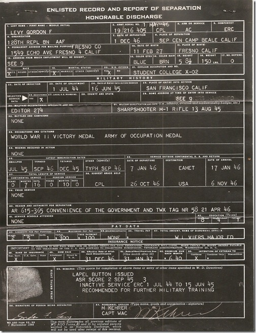 Gordon Discharge Record