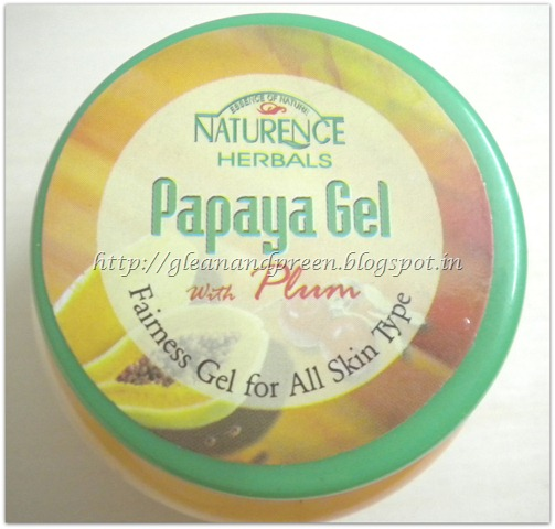 Naturence Herbals Papaya Gel With Plum - Massage Gel