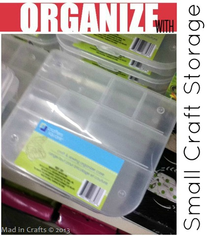 Dollar Store Small Crafts Storage