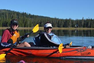 Ansel and Barbara on Medicine Lake