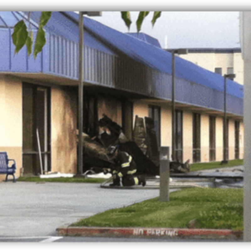 Small Airplane Crashes Into Community Hospital In Northern California