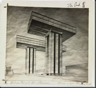 el lissitzky proposed horizontal skyscraper