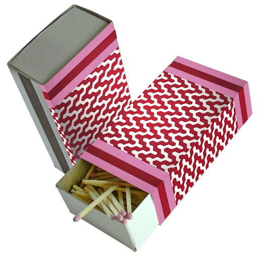A small box of matches from Iomoi for Valentine's Day is an unexpected yet creative gift.