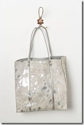 Anthro Silver Appaloosa Tote