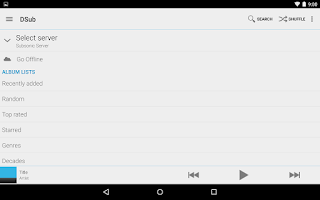 Screenshot of DSub for Subsonic