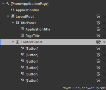 2. Content Panel UI Structure