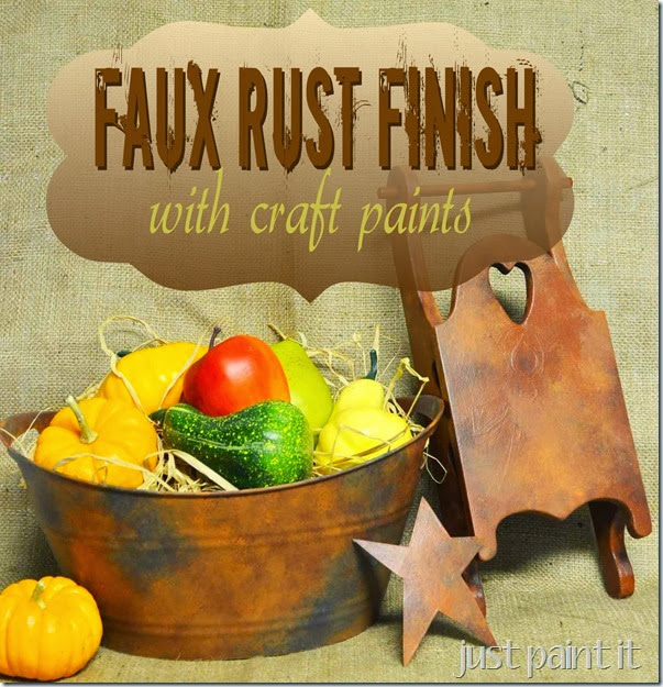 How To Paint Faux Rust