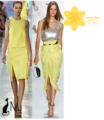 Lemon Zest pantone SS 2013 london fashion week new york fashion week diane von furstenberg christopher kane