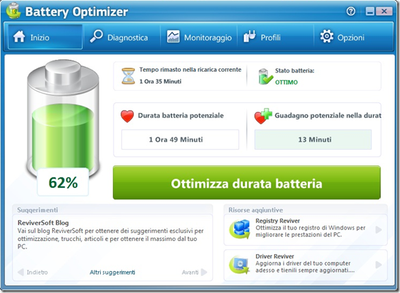 Battery Optimizer Ottimizza durata batteria