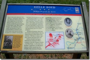 Belle Boyd Jackson Prepares for Battle Civil War Trails marker